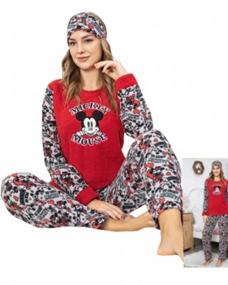 Turkish Women Pajamas, Fluffy Pajamas, Mimi Mouse PJS, Free Eye Mask