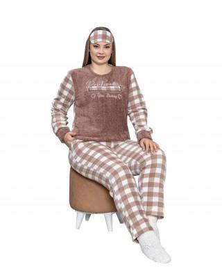 Turkish Women's Pajamas, Fluffy Loungewear, Winter Polar PJS