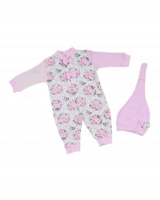 Sleep and Play Suit, Snap Closure Baby Overalls, Baby Girl's Overalls