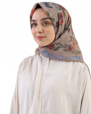Turkish Hijab, Non-Slip Hijabs, Head Scarf for Women, Traditional Floral Patterns