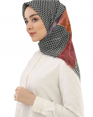 Turkish Hijab, Non-Slip Hijabs, Head Scarf for Women, Houndstooth Patterns