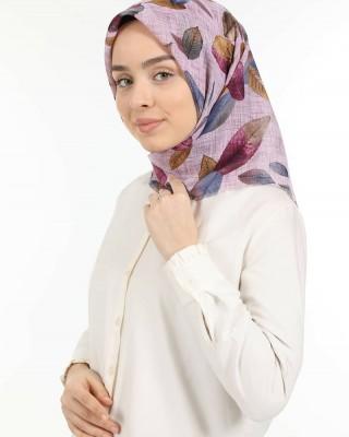 Head Scarf for Women, Turkish Hijab, Non-Slip Hijabs, Autumn Leaf Pattern