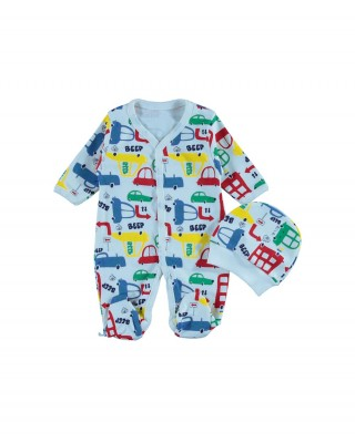 Sleep and Play Suit, Snap Closure Baby Overalls, Baby Boy Overalls