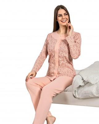 Turkish Women Pajamas, Long Sleeve Pajamas, Casual PJS