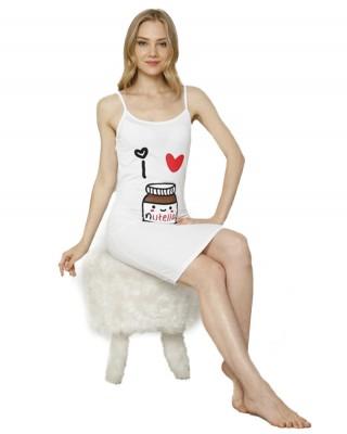 Full Slip Dress for Women Spaghetti Strap Under Cami Slit Soft Sleeveless Nightgowns
