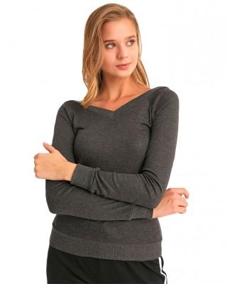 V Neck Blouse Top, Casual Long Sleeve Shirt, Turkish Sweatshirt for Women