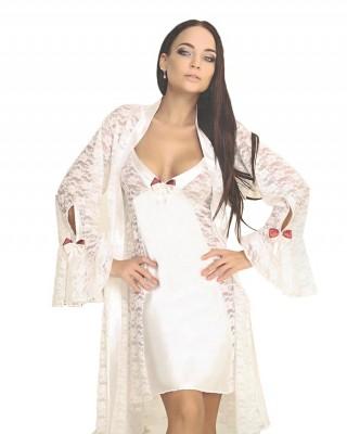 Babydoll Sexy Lingerie Set, 3 Pcs Babydoll Lace Sleepwear Nightgown, Robe Chemise Thong, Turkish Babydolls, Fantasy Lingerie